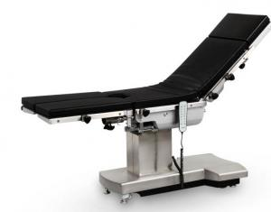 China German System Black Medical Examination Bed With Foot Control 350mm Sliding Distance on sale