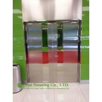 China Double-leaf Fire-rated Glass Door,Stainless steel fire rated emergency exit door on sale