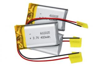 China 602035 Lithium Polymer Battery Pack 3.7V 400mah For Blue Tooth Headset on sale