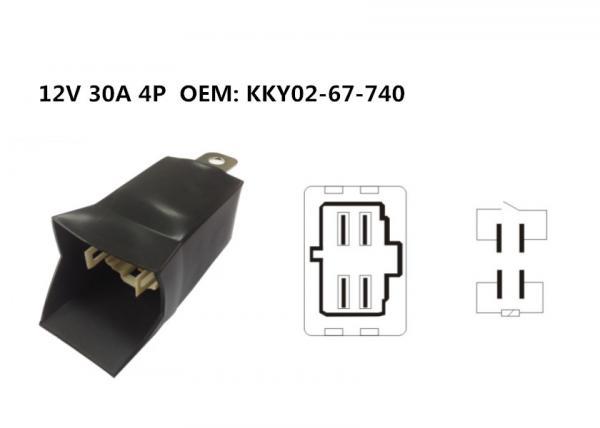 12V 30A 4 Pin OEM: KKY02-67-740 Micro & Mini Black Waterproof Relay
