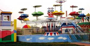China 24 Persons Chair Swing Ride Self Controlled UFO Amusement Park Equipments on sale