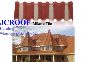 China Korea Style Aluminum Step Tiles Roofing Sheet stone coated metal sheet to Africa on sale