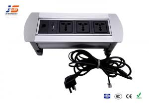 China Aluminum Desk Cable Outlet Table Outlet With USB VGA AC Power on sale