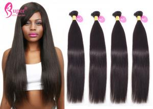 China 22 Inch Malaysian Straight Bundles Natural Black Color Human Hair Weave on sale