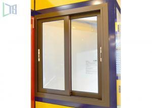 Quality Aluminium Double Glazing Horizontal Sliding Windows Impact And Abrasion for sale