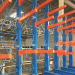 Red Blue Cantilever Pallet Racking , Industrial Cantilever Metal Storage Racks