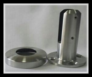 China Stainless steel 316/316L round base plate glass spigot with polished or satin finish for glass pool on sale