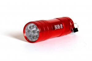 China Oxidation AAA Battery Aluminium 9 LED Torch Flashlights For Home , Office , Automobile on sale
