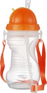 China Customized Plastic Baby Milk Water Feeding Bottle With Straw Cap on sale