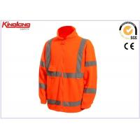 China Long Sleeves Plus Size Polar Fleece Jacket Hivis Reflective Tapes , One Chest Pocket on sale