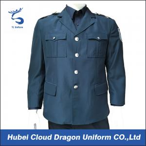 China Autumn / Winter Slim Fit Police Uniform Jackets , Security Guard Coats For Men / Women on sale
