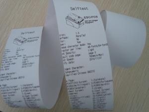 China ATM Thermal Paper Rolls with smooth and woodfree paper on sale