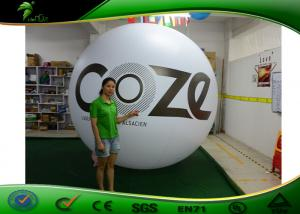 China 2m Tall White Inflatable Helium Balloon , Advertising Sky Balloon For Water Park on sale