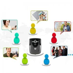 China Black White HD WIFI Video Doorbell Camera Motion Detection With Tamper Alarm on sale