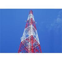 China Self Supporting Mobile Angle Steel Tower , Hot-dip Galvanizing 55m 4 - Leg Cell Phone Angle Steel Tower on sale