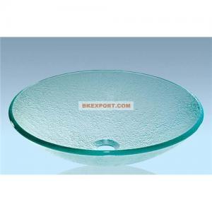 China Bathroom glass wash basin, bathroom glass sink,glass vessel sink on sale