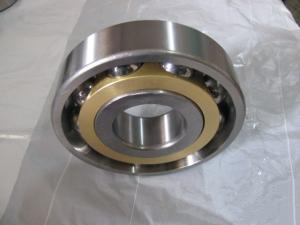 China Long life Single Row Angular Contact Ball Bearing With Brass Cage on sale