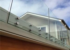 China Simple Design Tempered Glass Pool Fence Panels , Glass Handrail Systems For Decks supplier