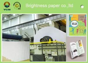 China A4 Compatible Offset Printing Paper / Book Printing Paper High Brightness on sale