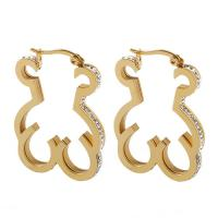 Women Gold Plated Stainless Steel Earrings Touch Love Costume Jewelry Earrings
