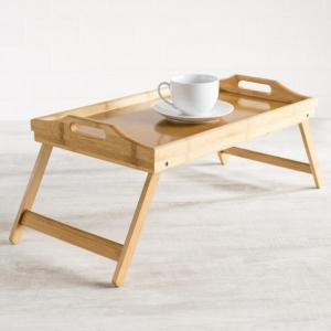 China bamboo wooden serving tray with legs on sale
