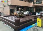 Shopping Mall Inflatable Mechanical Bull Easy Operate Customized Area Size