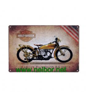 China Motorcycle&Car themed metal tin sign tin poster wall plaque for home & bar decoration on sale