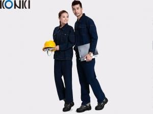 China Winter workwear uniform For industrial workers durable denim fabric  work suit on sale