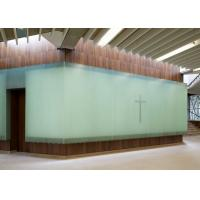 Pure Glossy Jade Glass Stone Wall 2cm For Bathroom And Restroom
