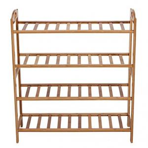 China 100% Natural Bamboo Shoe Bench Shoe Storage Racks Shelf Organizer 4 Layer on sale