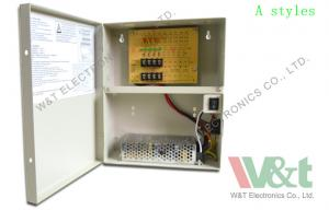 China 12V 60W 9 Channel CCTV Camera Power Supply Box 5A With LED Indicator on sale