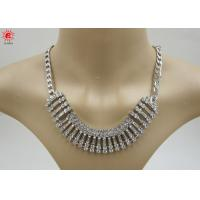 Girls Silver Trendy Fashion Jewelry Necklace With Rhinestone