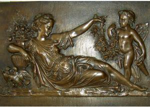Quality Mother With Angel Wall Art Bronze Relief Casting Surface Finish WS-C485 for sale