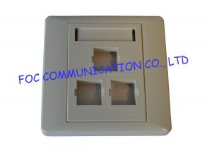 China Indoor 86 Type Fiber Optic Termination Box Outlet For FTTH on sale