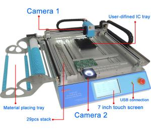 China CHMT 48V Benchtop SMT Pick And Place Machine SMT Assembly Equipment Vision + Mark 2 on sale