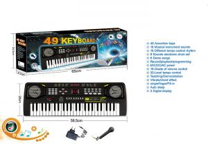 China 49 Keys Electric Keyboard Dual Power Kids Toy Piano W / Mic Powered By AA Batteries on sale