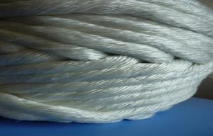 China Pipe insulation High Temperature Fiberglass Twisted Rope Braided on sale