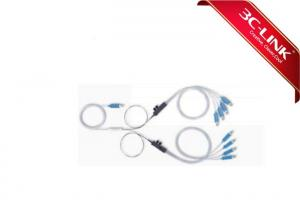 China Uniform Power Splitting Plc Optical Splitter Bare Device , Single Mode Fiber Splitter With Fan-Out Kit on sale