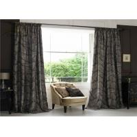 China Textile Jacquard Window Curtains / Commercial Blackout Curtains With Two Layers on sale