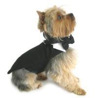Classic Pet Dog wedding outfit Black tuxedo with tails XXL XXXL