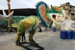 Indoor / Outdoor Decorative Animatronic Dinosaur Replicas Life Size For City Plaza
