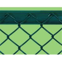 China Heavy Protecting PVC Chain Link Fencing / Green Wire Mesh Fencing For Zoo Protection on sale