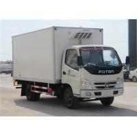 China FOTON 6 Wheels small Refrigerated Box Truck , 3 Tons Refrigerator Freezer Truck on sale
