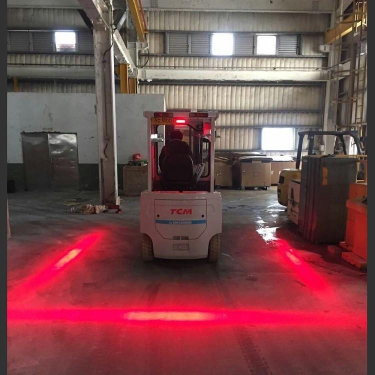 Red Zone Danger Area Warning Light Warehouse Forklift
