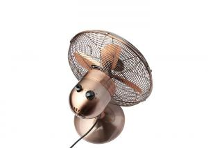 China 16 Inch Full Metal Silent Retro Desk Fan / 3 Speed Antique Electric Fans on sale