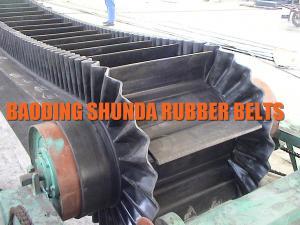 China corrugated sidewall conveyor belt, cleats conveyor belt for coal, fertilizer on sale
