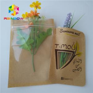 China Brown Kraft Paper Bag Packaging Filter Coffee Powder Bags Matt Surface With Window on sale
