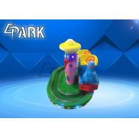 Amusement Park Rides / Zoo Steam Train Track Ride Fiberglass Material