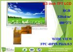 RGB Interface 40 Pin Touch Screen LCD Display 480 * 272 High Brightness 4.3 Inch