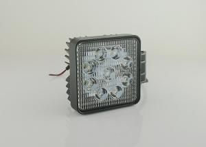 China 27W Vehicle Square LED Work Lights For Truck With 9LED 12v To 24v on sale